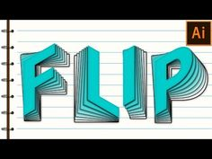 Flip Text Effect in Adobe Illustrator Tutorial - YouTube