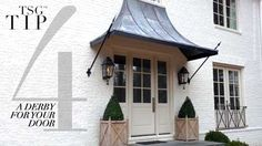 Interior design, Nancy Duffey, exterior paint, ROMA, awning by Calhoun Metalworks.Design Element: Metal and Canvas Awnings
