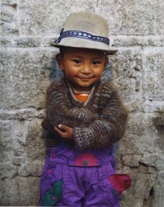 Tibetan child...that hat on him is adorable!