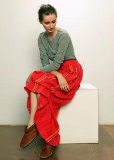 Ace & Jig Avignon Skirt - Scarlet