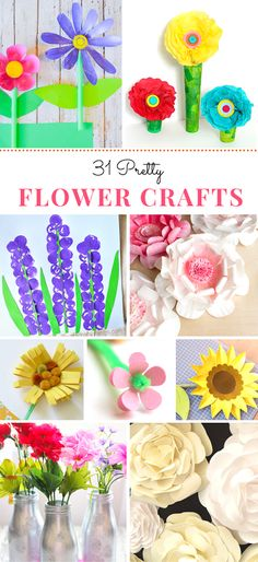 Have spring fever and want to add some color to inside your house as well as outside? We've rounded up 31 fun flower crafts to do yourself or with your kids to bring spring indoors and add co…