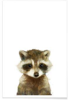 Little Raccoon en Affiche premium par Amy Hamilton | JUNIQE