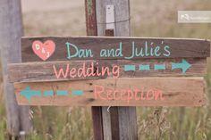 Homemade wedding signs