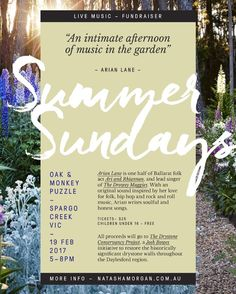 I'm pretty excited to announce our Summer Sundays intimate afternoons of music at Oak and Monkey Puzzle kicking off with the super talented Arian Lane @arian_lane on Sunday 19th February at 5-8pm. . Summer Sundays are glorious opportunities to gather visit Oak and Monkey Puzzle and it's beautiful productive gardens and meadows or pop down a picnic blanket under our ancient Oak canopy. It's also an opportunity to support our region's wonderfully talented emerging musicians in aid of raising…