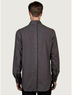 J.w. Anderson Mens Grey Priest Collar Shirt in Gray for Men (grey) | Lyst