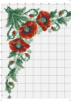This Pin was discovered by vus Cross Stitch Borders, Cross Stitch Flowers, Cross Stitch Kits, Cross Stitching, Cross Stitch Embroidery, Cross Stitch Patterns, Embroidery Patterns Free, Tapestry Crochet, Loom Beading