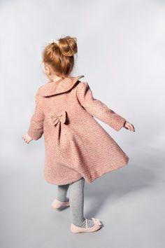Girls Wool Coat in Pink Features Peter Pan by VesperClothier, $130.00