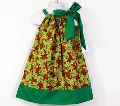 Girls Pillowcase DressMonkeysCHOOSE YOUR SIZE by togs4tots on Etsy, $19.99