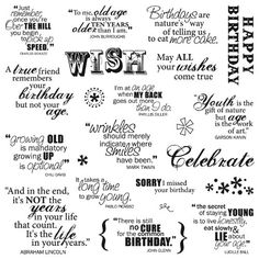 Fiskars - Clear Acrylic Stamps - 8 x 8 - Make A Wish Quotes Birthday Sentiments, Card Sentiments, Birthday Verses, Birthday Sayings, Birthday Wishes, Birthday Cards, Happy Birthday, Birthday Messages, Birthday Greetings