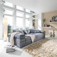 Bigsofa in stylischem Grau von CARRYHOME: Entspannung im Großformat!