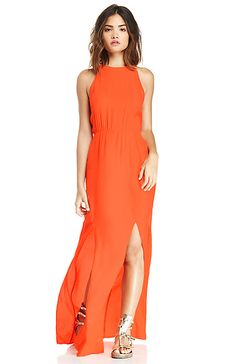 MINKPINK Sweet Slice Maxi Dress in Coral XS - L | DAILYLOOK