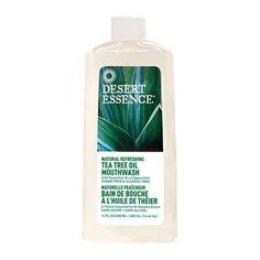 Desert Essence Natural Refreshing Tea Tree Oil Mouthwash