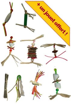Jouets de pattes pour perroquets - legs toys for parrots Christmas Ornaments, Holiday Decor, Outdoor Decor, Home Decor, Bassoon, Budgie Toys, Budgies, Parrots, Gaming
