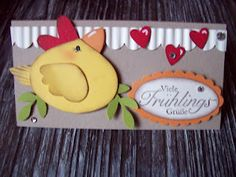 Stampin' Up! Punch Art Chick Valentine tags all Stampin Up! card Stampin' Up! Craft Paper Punches, Paper Punch Art, Punch Art Cards, Scrapbook Cards, Scrapbooking, Paper Cards, Creative Cards, Kids Cards, Cute Cards