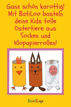 Die besten Basteltipps für Eltern, um die Kids bei Laune zu halten: BatiLoos lustige Ostertiere und marmorierte Eier! Tricks, Shoe Box, Kids Discipline, Happy Easter, Cook, Kid Games