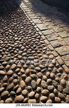 Stock Photo of Cobblestones at Louisburg Square, Beacon Hill ...