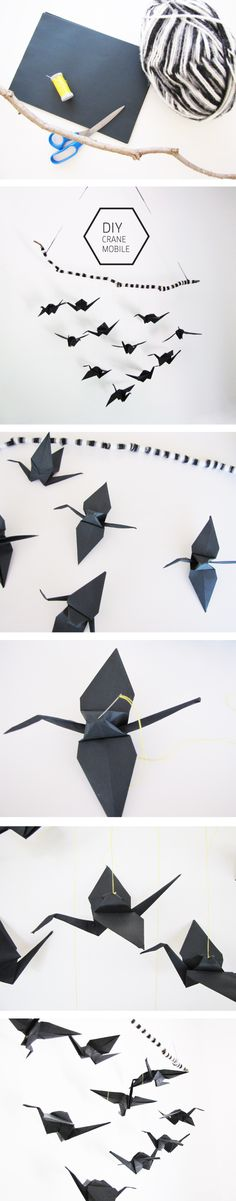How to make this Origami Crane mobile, legend has it that cranes are a symbol of good fortune and longevity. Psst....it's easy to do! Head over to this blog for an easy to follow tutorial.
