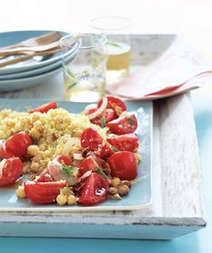 Minty Chickpea Salad With Couscous recipe from realsimple.com #myplate #vegetables