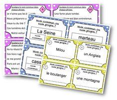 Je vous propose aujourd'hui des cartes à tâches pour travailler sur le nom. Mes élèves apprécient beaucoup travailler en autonomie avec ces cartes. Voici 3 séries de cartes sur la notion de nom commun/propre (clic pour télécharger) : Distinguer nom propre et nom commun : Donner la nature du nom : Correction : Reconnaître les … Nom Nom, Journal, Teaching, Education, Cycle 3, Tour, Homeschooling, Nature, Names