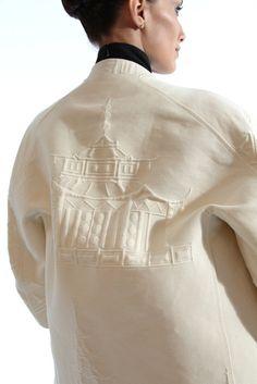 C'est la belle vie - Chado Ralph Rucci tapestry coat....
