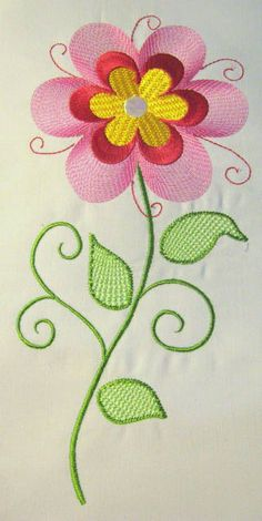 Vintage Flower 10 Filled Machine Embroidery Design  by KCDezigns, $3.50