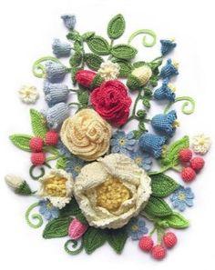 Crochet Flowers For Wall Art