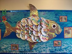 weaving, rainbow fish. could do small scale - each plate is a fish. would tie-in with recent outdoor weaving project and sewing