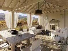 neutral outdoor space which blends in perfectly with the natural environment