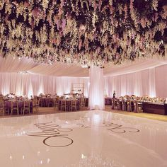 Inside @messinaa1 @ncon82 #weddingreception  Ballroom with full ceiling and wall drapes w/ wisteria and twinkle light treatment all done with no rigging!  By @nisiesenchanted @classicpartyoc @shinelighting @wildflowerlinen #aboutdetailsdetails #ballroomwedding #terraneawedding #LAweddingplanner #luxurywedding #weddingflowers #weddinginspo