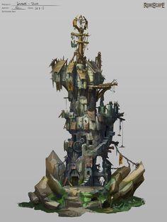Bandos Tower, Neil Richards on ArtStation at http://www.artstation.com/artwork/bandos-tower