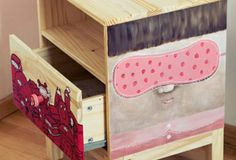 hand painted IKEA nightstand in collaboration with Ghica Popa