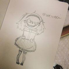 Follow me on instagram :virai_cioce #inktober #cute #girl #creepy #smile #virai
