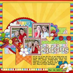 #papercraft #scrapbook #layout happy and bright!