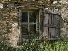 .A shutter to  keep out the heat of the sun on a hot summer's day and the cold, cold wind of winter.