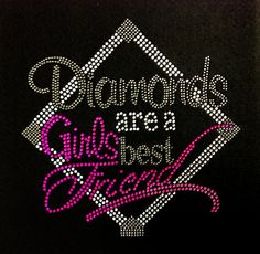 Rhinestone Iron On Diamonds Are A Girls Best Friend by BlingMeBaby