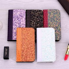 Limited Chance of Crocodile Pattern Wallet Glitter Phone Case For Samsung Galaxy Plus Book Style Back Cover Iphone 7 Plus, Iphone 6, Iphone Cases, Alligator Wallet, Gadgets, Iphone Design, Glitter Phone Cases, Wallet Pattern, Fancy