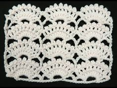 Crochet : Punto Abanico # 8