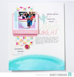 American Crafts Studio Blog: Layout for Mother's Day by Nancy Damiano