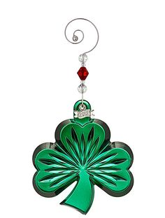Waterford 2012 Annual Green Shamrock Ornament