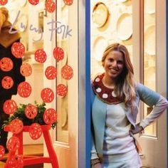 Lucy Folk adorned in a Margherita Madness Neckpiece...