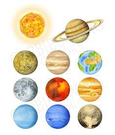 Crear sistema solar. Maqueta d
