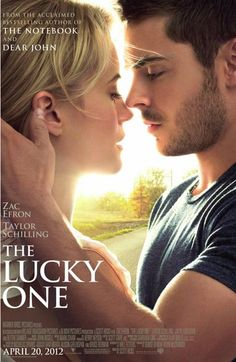 "The Lucky One - Zac Efron stars in the movie based on Nicholas Sparks' novel. ""The Lucky One"" was the first & only Nicholas Sparks novel that I've read. I missed seeing the movie. I plan to read all Nicholas Sparks novels. Taylor Schilling, See Movie, Movie Tv, 2012 Movie, Movie List, The Lucky One Movie, Peliculas Audio Latino Online, The Notebook, Chick Flicks"