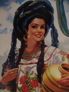 Calendar girls from Mexico Mexico Style, Mexico Art, Mexican Artists, Mexican Folk Art, Beautiful Mexican Women, Jorge Gonzalez, Mexican Colors, Pin Up, Latino Art