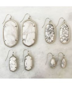 Elle Earrings in White Howlite - Kendra Scott Jewelry
