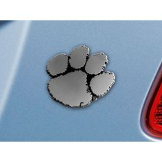 Clemson Tigers NCAA Chrome Car Emblem 2.3in x 3.7in