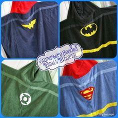 Superhero Hooded Towels Tutorial Busy Moms Helper - Batman Clothing - Ideas of Batman Clothing - Easy DIY Superhero Hooded Towels / www. Sewing Hacks, Sewing Tutorials, Sewing Crafts, Sewing Projects, Sewing Patterns, Sewing Ideas, Sewing For Kids, Baby Sewing, Diy For Kids