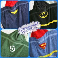 Easy DIY Superhero Hooded Towels / www.BusyMomsHelper.com