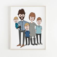 35 Likes, 1 Comments - Nicole Family Portraits, Family Photos, Family Illustration, Great Wedding Gifts, New Art, Holiday Cards, Digital Prints, New Baby Products, Art Projects