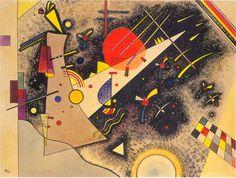 Kandinsky - White with Motley (Weiss mit Bunt), 1924