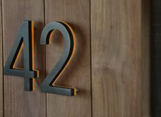 Illuminated Bronze House Numbers - Outdoor Backlit Signs - modern - house numbers - los angeles - by Surrounding - Modern Lighting & Furn. Illuminated House Numbers, Rustic House Numbers, House Address Numbers, Metal House Numbers, Door Numbers, Address Plaque, Midcentury House Numbers, Door Number Sign, Illuminated Signs